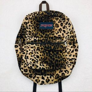 JanSport Classic Leopard Cheetah Backpack Fur